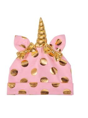 f2cc861ec1a3f Product Image Lux Accessories Unicorn Polka Pink Unicorn Warm Bow Hats  Infant Kid Beanie Hat