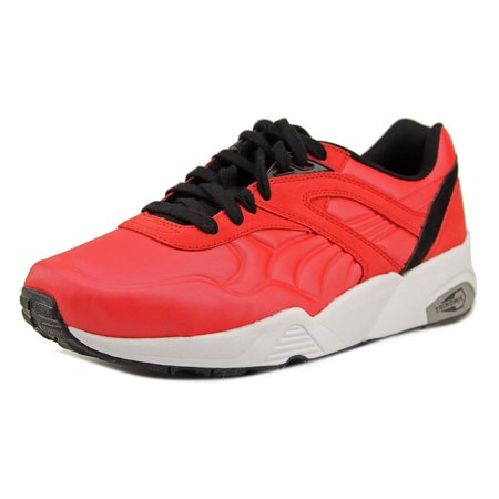 Puma R698 Matt   Shine Men Round Toe Leather Red Sneakers - Walmart.com a2942a16703c