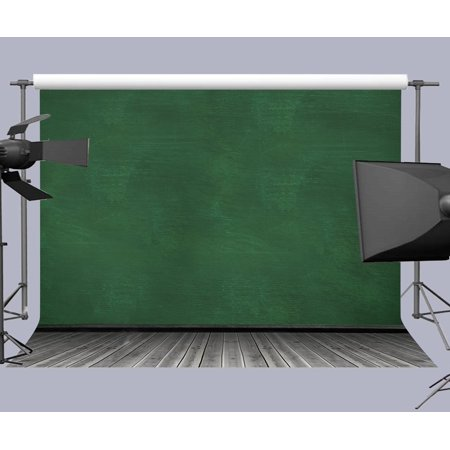 EREHome Polyester Fabric Photo Background 7x5ft Green Wall and Wood Floor Photography Backdrop Studio Props - image 1 of 2