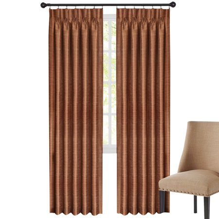 Parker Pinch Pleat Window Curtain Panel - Striped Texture, 34