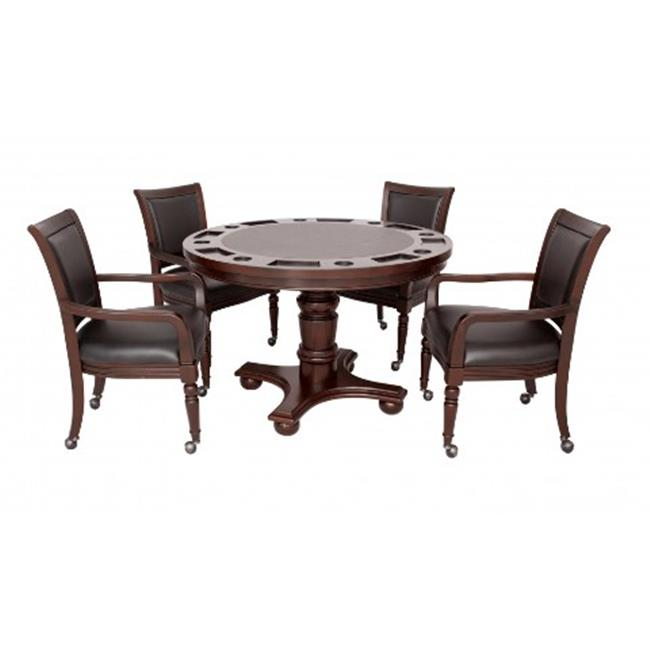 Blue Wave Products NG2348W Bridgeport 2 In 1 Poker Game Table Set Walnut by Blue Wave Products