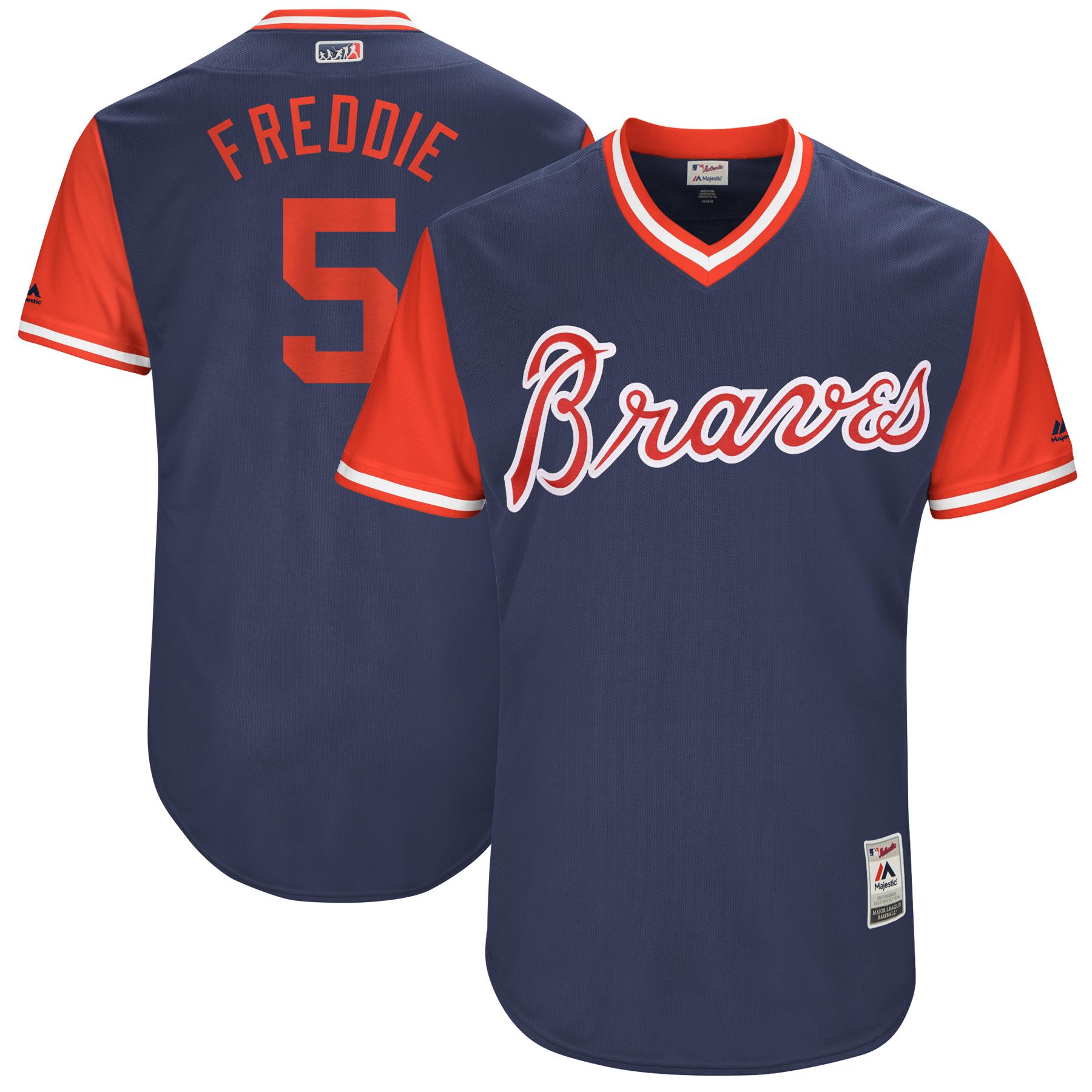 """Freddie Freeman """"Freddie"""" Atlanta Braves Majestic 2017 Players Weekend Authentic Jersey - Navy"""