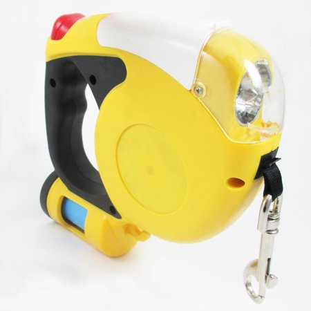(3M Auto Retractable Dog Leash Flashlight Pet Dispenser Waste Walk Bag Cord 10 Ft)