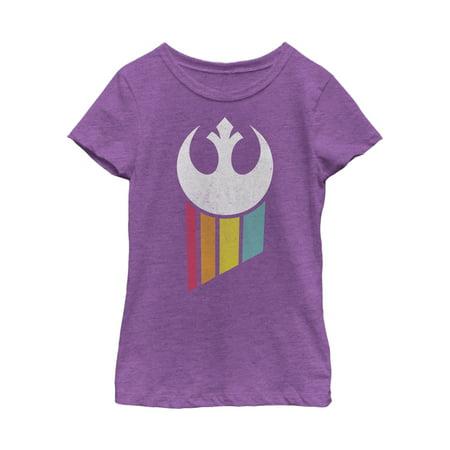 Girl Emblem (Star Wars Girls' Rebel Rainbow Emblem T-Shirt )