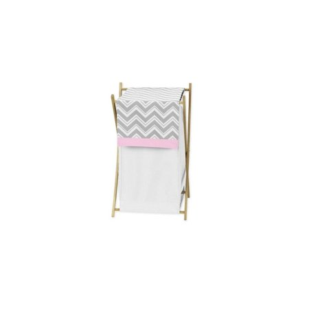 Sweet Jojo Designs Baby/Kids Clothes Laundry Hamper for Pink and Gray Chevron Zig Zag Bedding