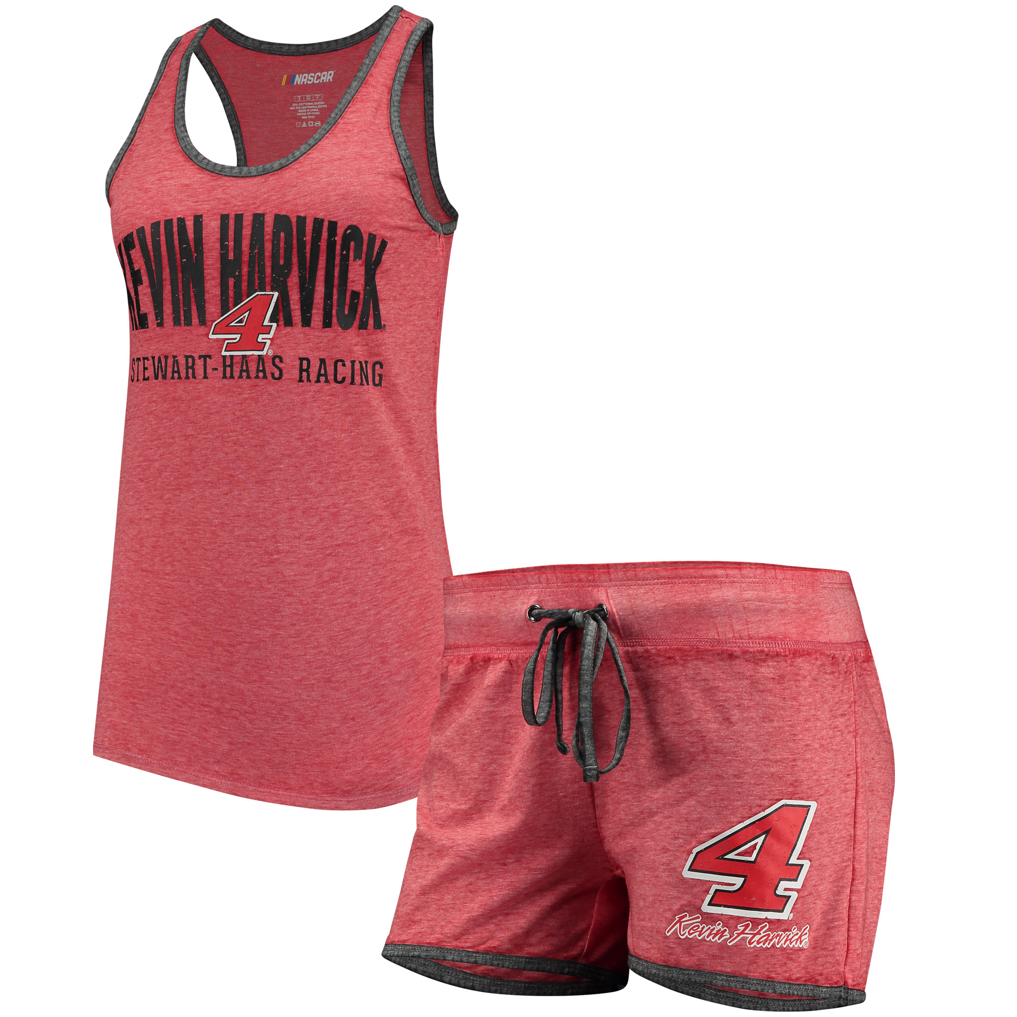 Kevin Harvick Concepts Sport Women's Deed Tank Top and Short Set - Red