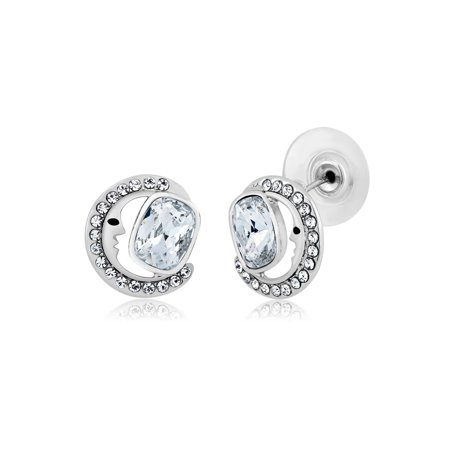 010a072b7 Gem Stone King - Collection Half Moon 925 Silver Studs Created with ...