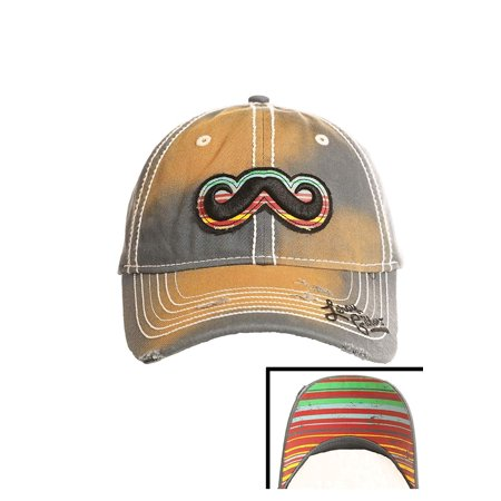 Rock and Roll Leroy Gibbson Mustache Hat, Adjustable Denim - Rock And Roll Dress Up Ideas