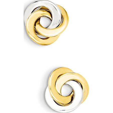 14k Two-Tone Gold  Polished Intertwined Circles Post (11x11mm) Earrings - image 1 of 3