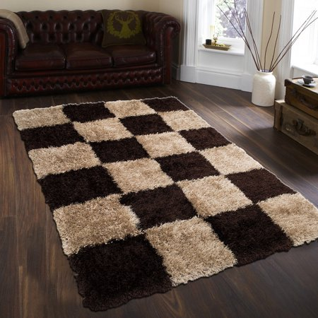 Allstar Mocha Mix High Density and High Quality High End Shaggy Area Rug. Very Soft Extra comfort (4' 11