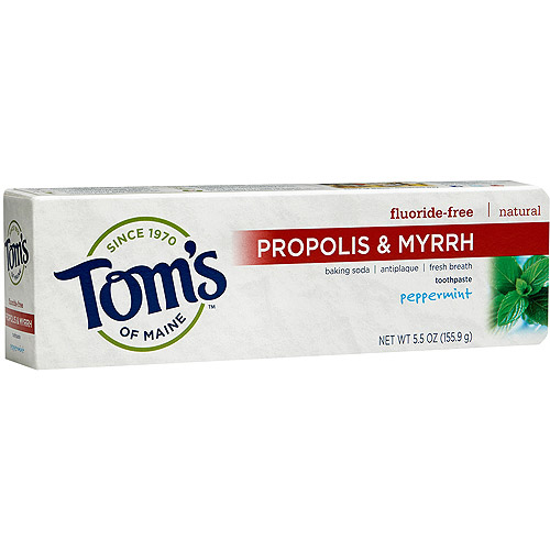 Tom's of Maine(tm) Propolis & Myrrh Peppermint Fluoride-Free Toothpaste, 5.5. oz
