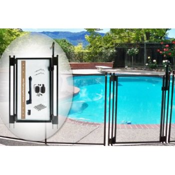 Pool Fence Diy By Life Saver Self Closing Gate Kit Black Walmart Com Walmart Com