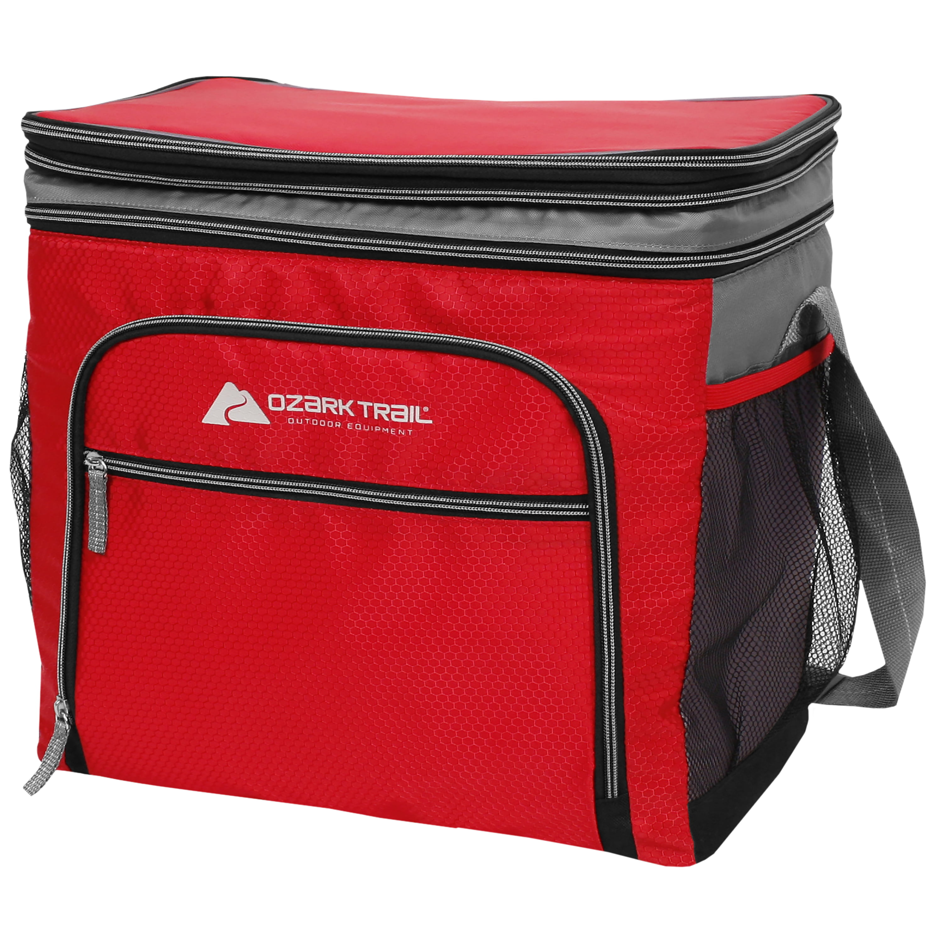 Ozark Trail 36 Can Expandable Top Soft Sided Cooler Red