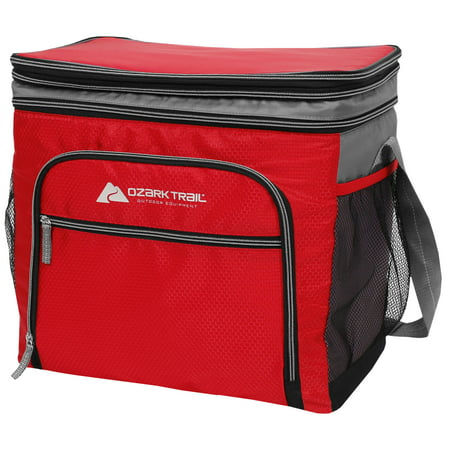Ozark Trail 36-Can Expandable Top Soft-Sided Cooler. Red (Screw Top Cooler)