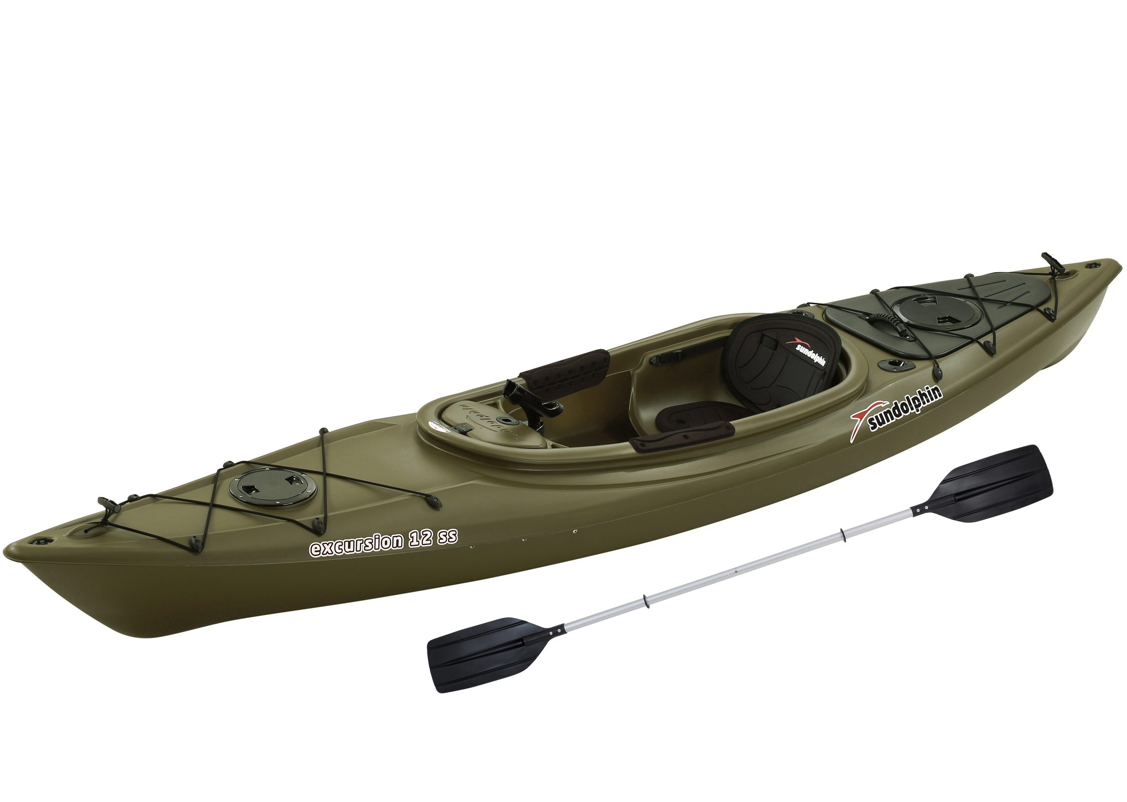 0fc24a754804 Sun Dolphin Excursion 12' Sit-In Fishing Kayak Sand, Includes Paddle -  Walmart.com