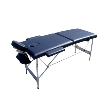 Ktaxon 2 section folding portable lightweight aluminum for Table salon retractable