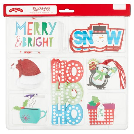Holiday Time Deluxe Gift Tags  40 Count