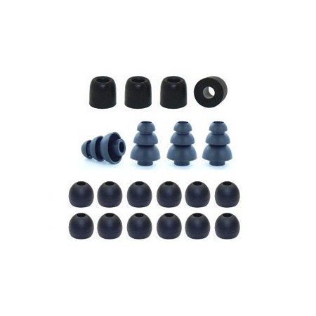 Triple Flange Foam (Small _ Earphones Plus brand replacement earphone tips custom fit assortment: memory foam earbuds_ triple flange ear tips_)