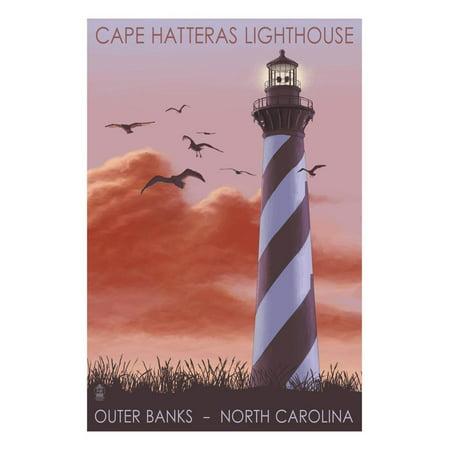 Cape Hatteras Lighthouse - North Carolina - Sunrise Print Wall Art By Lantern Press