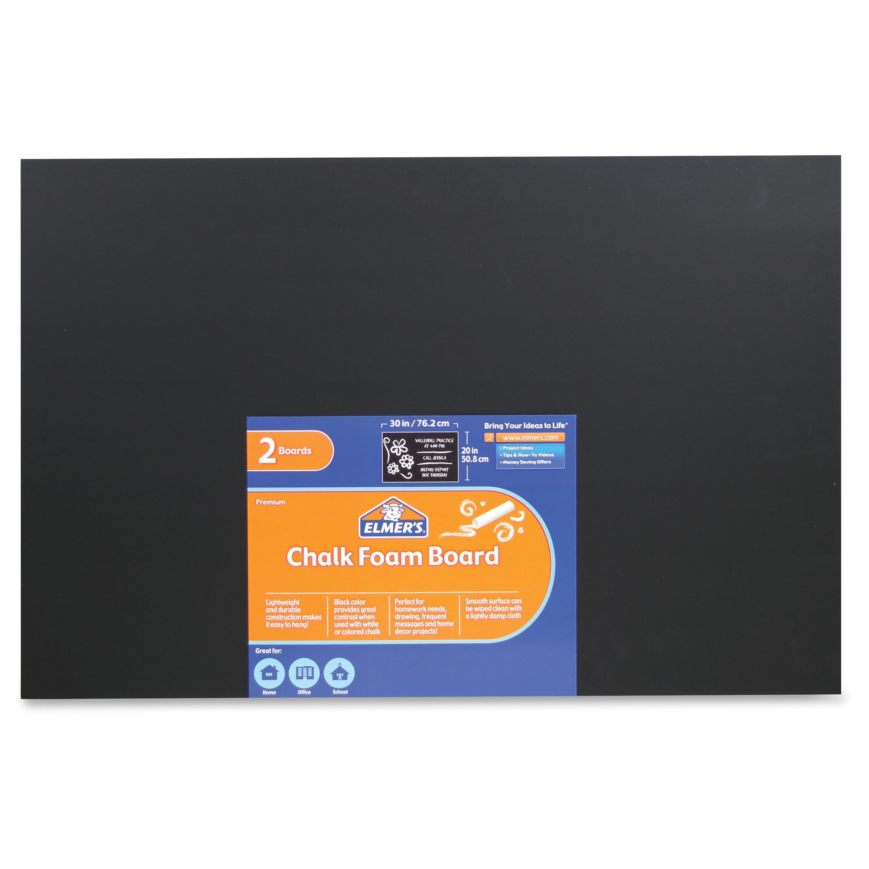 """Elmer's Chalk Foam Boards 30"""" [2.5 Ft] Width X 20"""" [1.7 Ft] Height Black Foam Board Surface... by Elmer"""