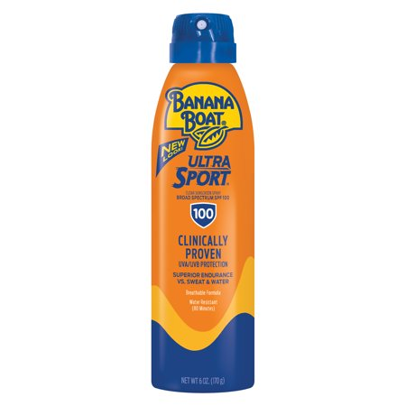 Banana Boat Ultra Sport Clear Sunscreen Spray SPF 100, 6