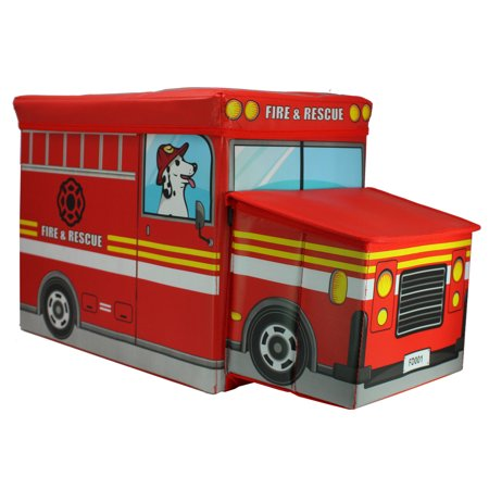 Truck Toy Store (Fire Truck Toys Storage Box and Bench )