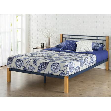 Zinus Taylan Metal & Wood Platform Bed, Multiple Sizes