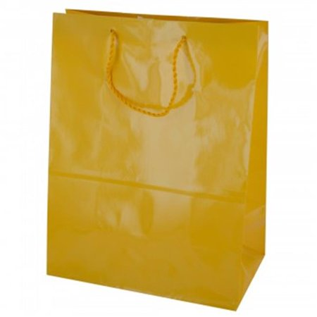 Bulk Buys BH466-36 Solid Gift Bag, Yellow - Large - 36 Piece - Bulk Gift Bags