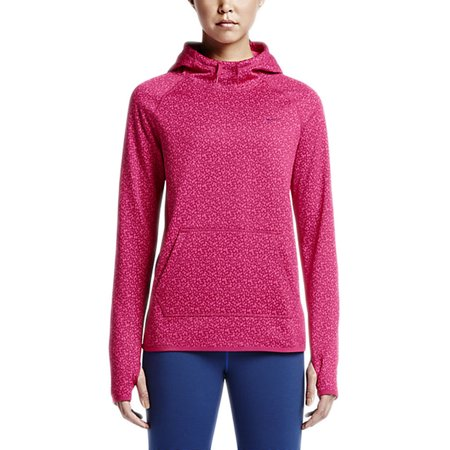 nike womens all time petal pullover training hoodie pink. Black Bedroom Furniture Sets. Home Design Ideas
