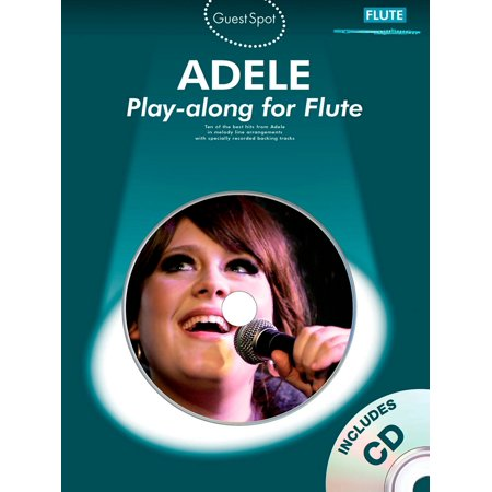 Music Sales Adele Play Along For Flute  Book Cd