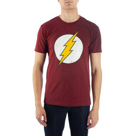 Men's DC Comics Flash Logo Tee with High Density Ink