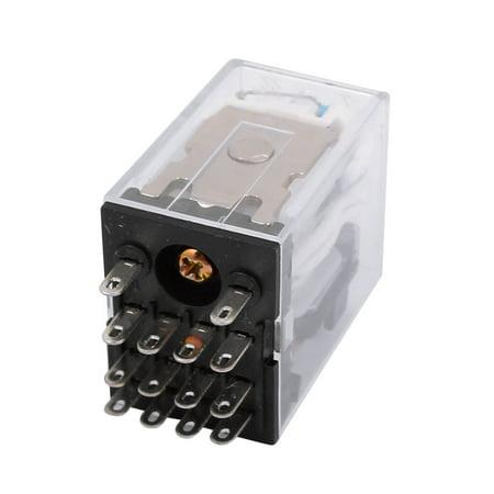 - HH54P 14 Pin 4PDT Power Relay 12V DC Coil 5A 240V  28V DC Jombp