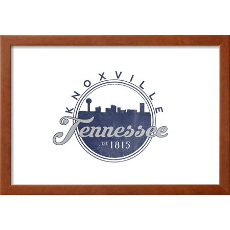 Knoxville, Tennessee - Skyline Seal (Blue) Framed Print Wall Art By ...