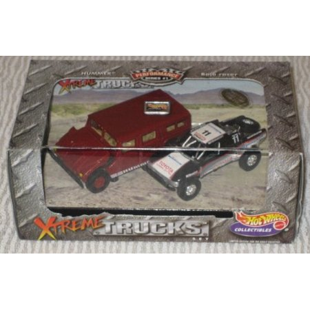 Hot Wheels 2-car Set Xtreme TRUCKS: HUMMER & Baja Racer