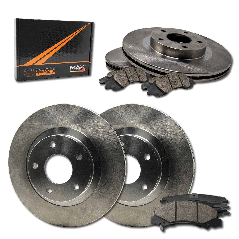 Max Brakes Front Premium Brake Kit KT070341 OE Series Rotors + Ceramic Pads Fits: 2007 07 Nissan Sentra SE-R Spec V Models