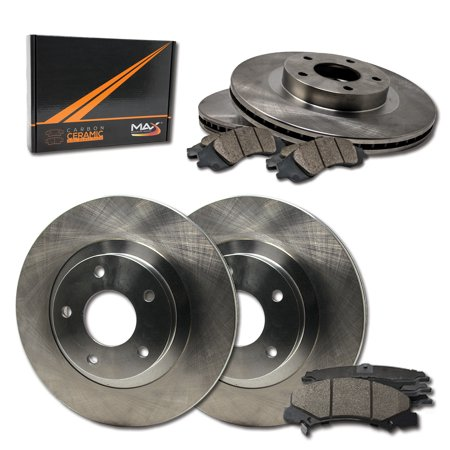 Max Brakes Front & Rear Premium Brake Kit [ OE Series Rotors + Ceramic Pads ] KT108243 | Fits: 2014 14 2015 15 Volvo S80 336mm Diameter Front Rotor With Rear Vented Rotor - image 8 de 8