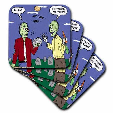 3dRose Halloween - Zombie Vegans, Soft Coasters, set of 8](Halloween Roller Coaster)