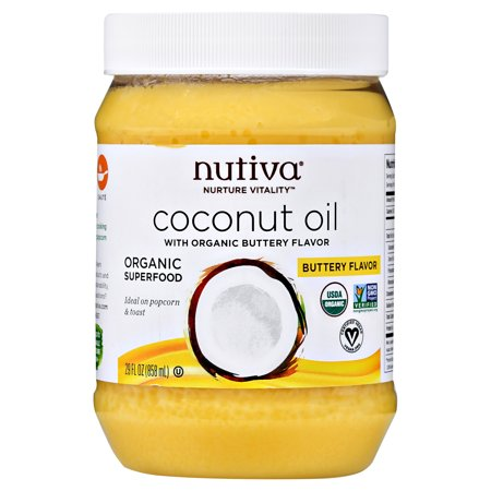 Nutiva Organic Coconut Oil with Buttery Flavor, 29 fl - Nut Flavor Oil