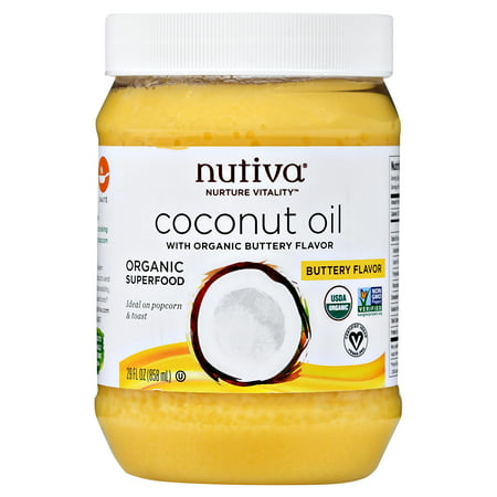 Nutiva Organic Coconut Oil with Buttery Flavor, 29 fl oz