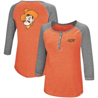 Oklahoma State Cowboys Colosseum Women's 8 Pound 3/4-Sleeve Henley T-Shirt - Orange
