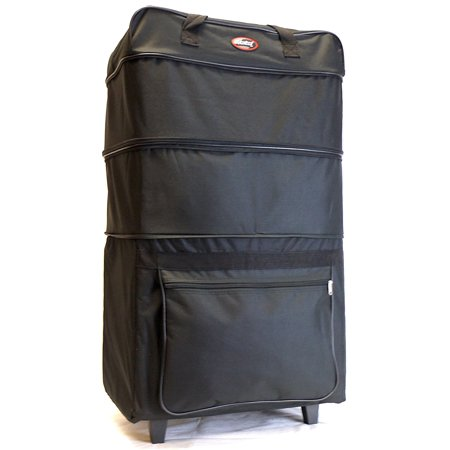 - 36 Rolling Wheeled 3 Tiers Expandable Suitcase Luggage Duffle Bag with Pull Up Handles (36 inch, Black)