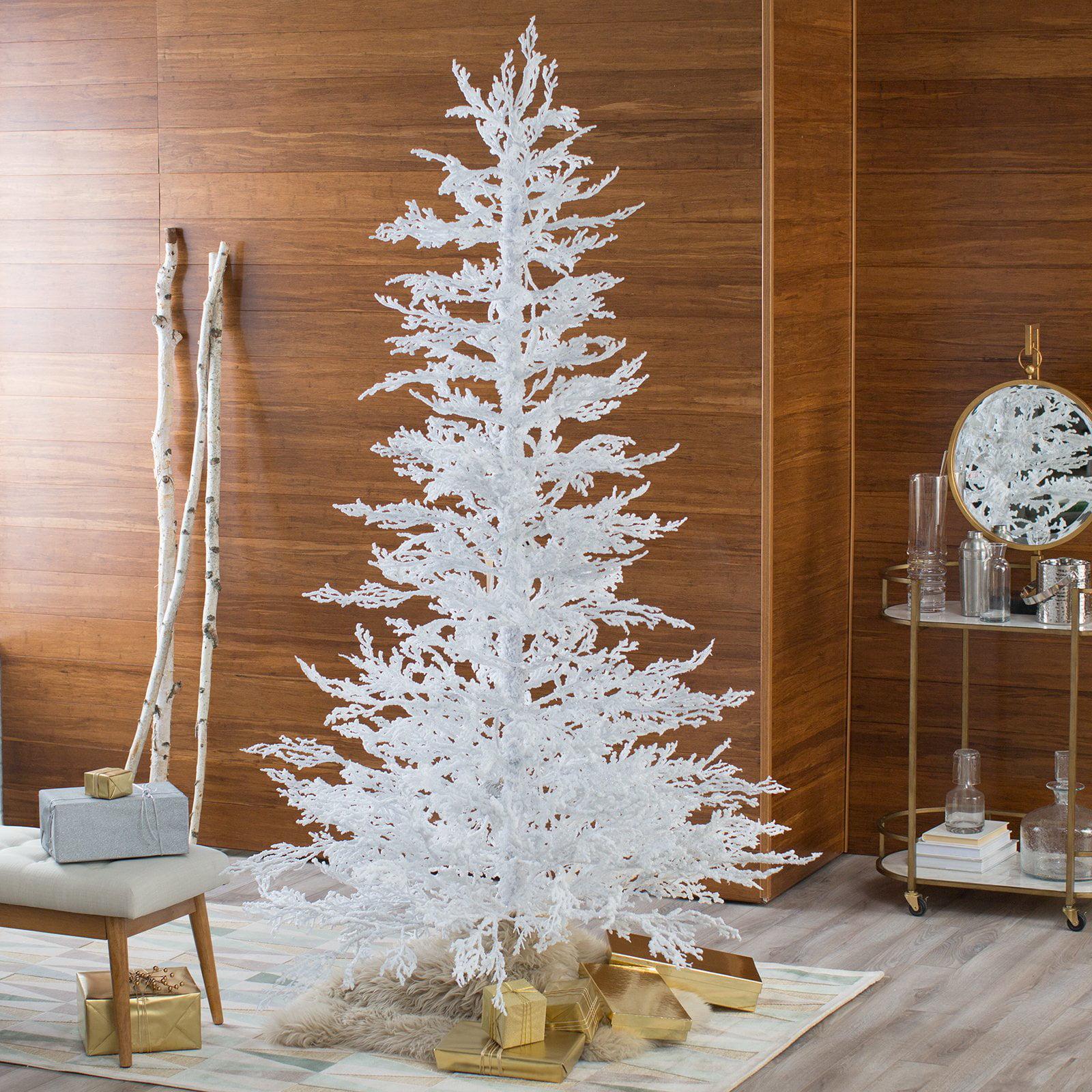 Sterling 75ft pre lit flocked white twig tree with 300 ul clear pre lit flocked white twig tree with 300 ul clear lights walmart aloadofball Gallery