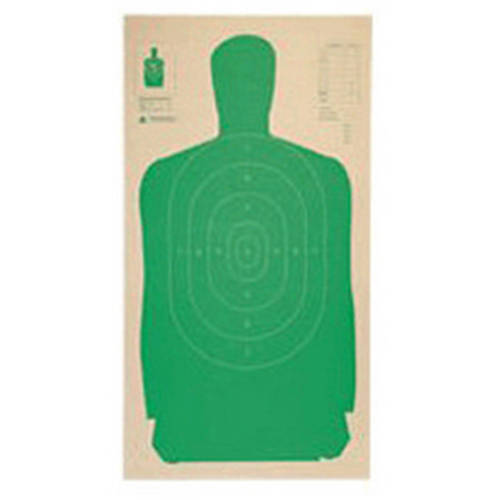 """Champion Traps and Targets Police Silhouette Target 24x45"""" Green, 25-Pack"""