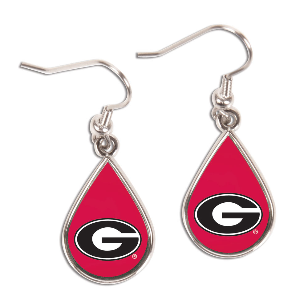 Georgia Bulldogs Official NCAA 1 inch  Earrings by Wincraft