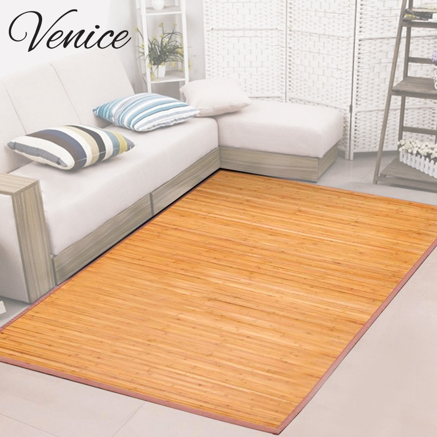 Venice Natural Bamboo 6' X 9' Floor Mat, Bamboo Area Rug Indoor