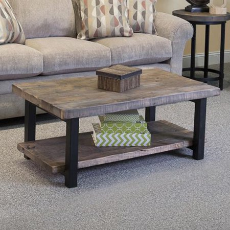 Bolton Furniture Alaterre Pomona Reclaimed Wood And Metal 42 Inch Coffee Table