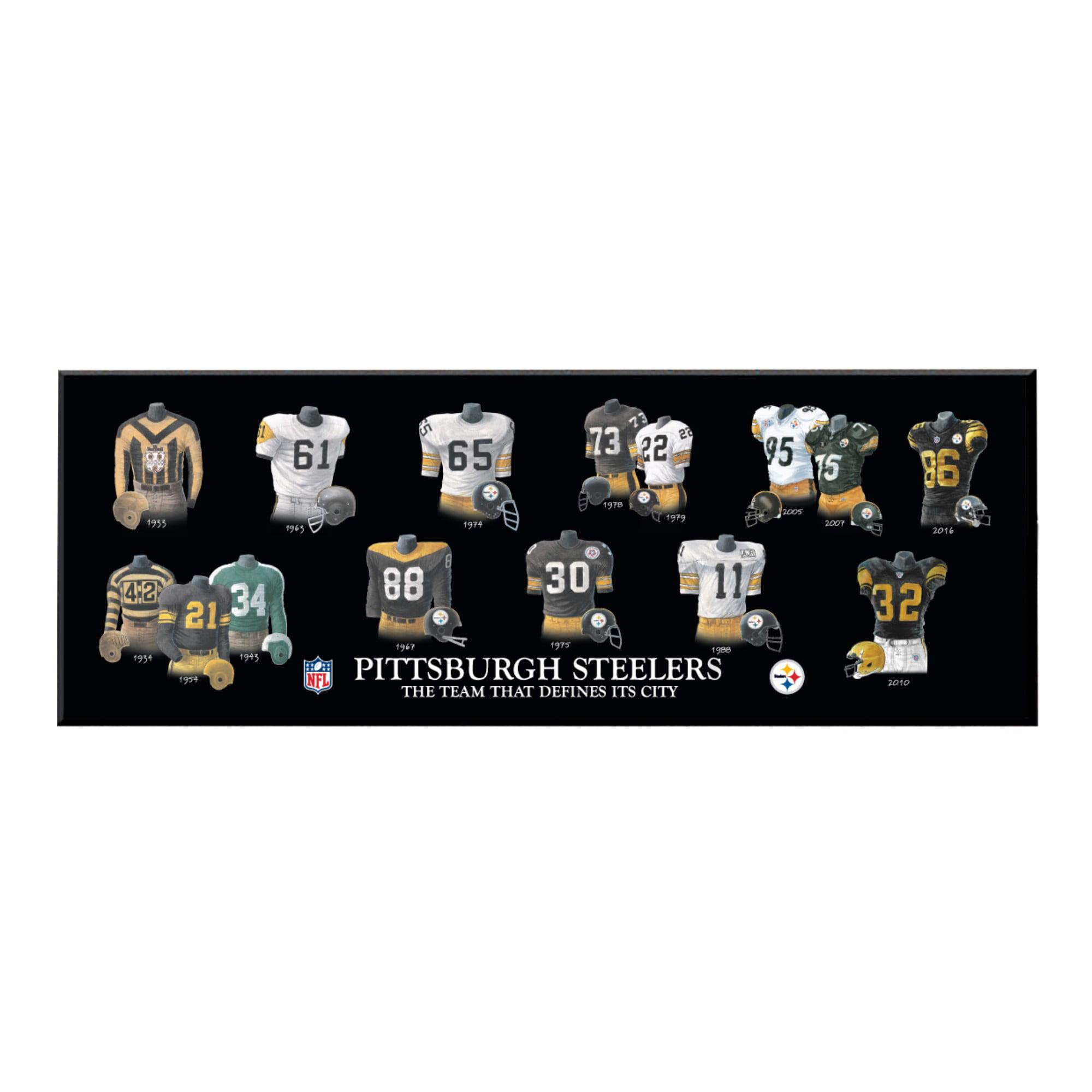 Winning Streak - NFL Uniform Plaque, Pittsburgh Steelers