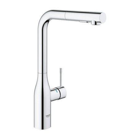 Grohe  Essence New Single Hole Single-Handle Kitchen Faucet with Dual Spray in StarLight Chrome