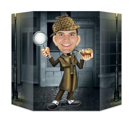 The Beistle Company 4 Piece Sherlock Holmes Wall Décor Set