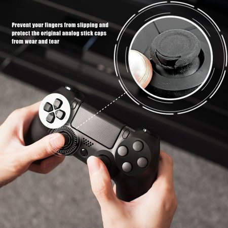 Insten 4pcs Black/Red Silicone Thumb Thumbstick Grips Analog Stick Cover Caps for Xbox 360 ...